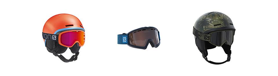 skihelmen en skibrillen